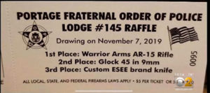 Portage FOP Raffle Ticket